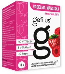 Gefilus vadelma purutabletti 30 kpl